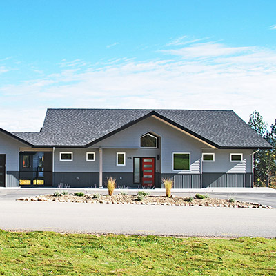 Kerslake home by Sandpoint Builders inc., a custom luxury home builder in North Idaho.