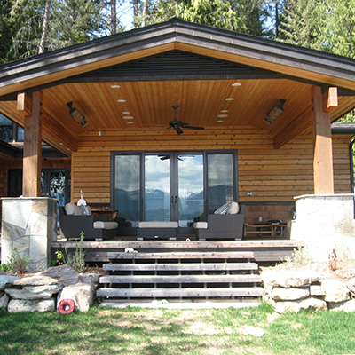 Gaffin home by Sandpoint Builders inc., a custom luxury home builder in North Idaho.