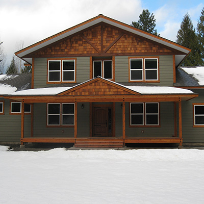 Iverson home by Sandpoint Builders inc., a custom luxury home builder in North Idaho.