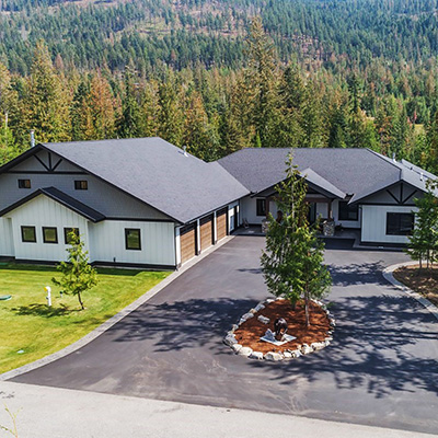 Jack residence by Sandpoint Builders inc., a custom luxury home builder in North Idaho.