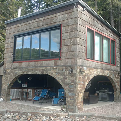 McKay bouthouse by Sandpoint Builders inc., a custom luxury home builder in North Idaho.