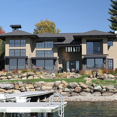 Temple modern home by Sandpoint Builders inc., a custom luxury home builder in North Idaho.